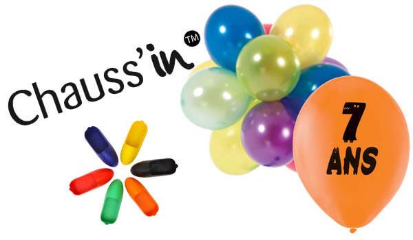 L'anniversaire Chauss'in qui fête les sept années de la naissance de son premier prototype